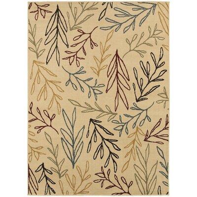 Sheridan Ivory/Multi Area Rug Rug Size: Rectangle 53 x 73