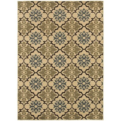Sheridan Blue/Green Area Rug Rug Size: Rectangle 53 x 73