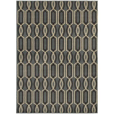 Sheridan Blue/Ivory Area Rug Rug Size: Rectangle 53 x 73