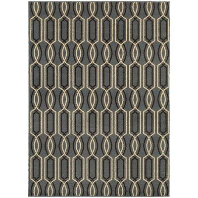 Sheridan Blue/Ivory Area Rug Rug Size: 67 x 93