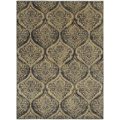 Sheridan Blue/Ivory Area Rug Rug Size: Rectangle 33 x 55