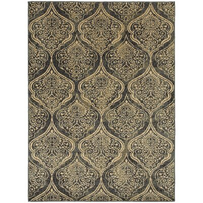 Sheridan Blue/Ivory Area Rug Rug Size: Rectangle 910 x 1210
