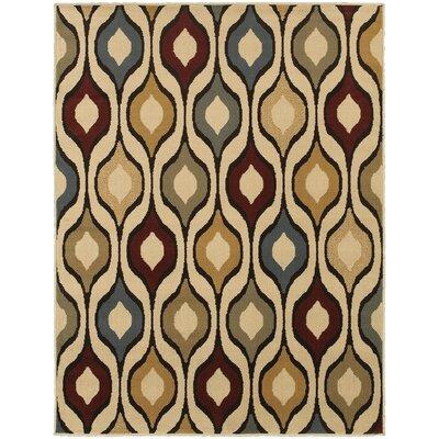 Sheridan Ivory/Multi Area Rug Rug Size: 53 x 73