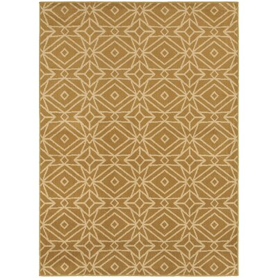 Sheridan Gold/Ivory Area Rug Rug Size: Rectangle 53 x 73