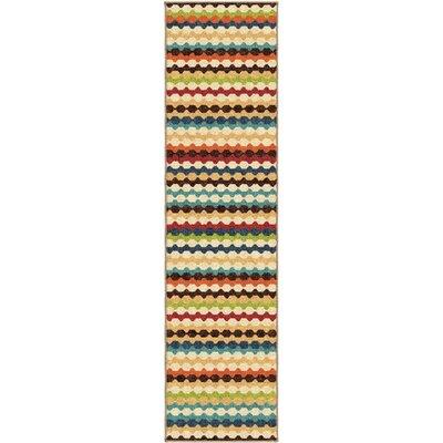 Calhoun Green/Beige Indoor/Outdoor Area Rug Rug Size: Rectangle 52 x 76