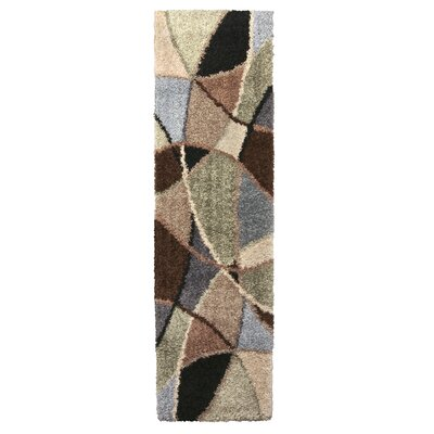 Adele Brown/Green Area Rug Rug Size: Runner 111 x 75