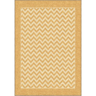 Rochester Yellow Indoor/Outdoor Area Rug Rug Size: 26 x 39