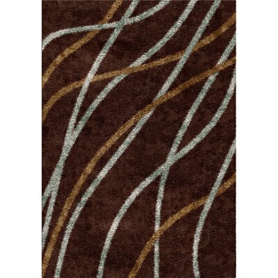 Denning Brown Area Rug Rug Size: 53 x 76
