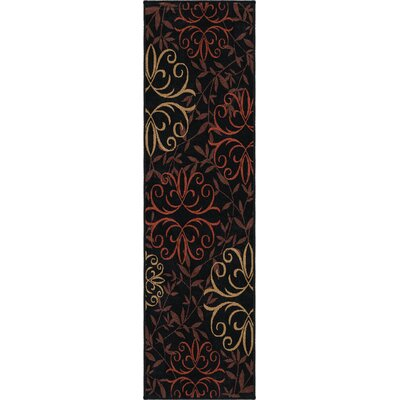 Olivia Black Indoor/Outdoor Area Rug Rug Size: Runner 23 x 8