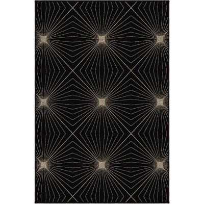 Paige Black Area Rug Rug Size: Rectangle 53 x 76