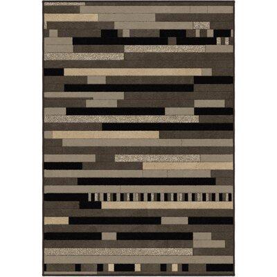 Anton Grey Area Rug Rug Size: 53 x 76
