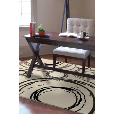 Melissa Cream Area Rug Rug Size: Rectangle 53 x 76