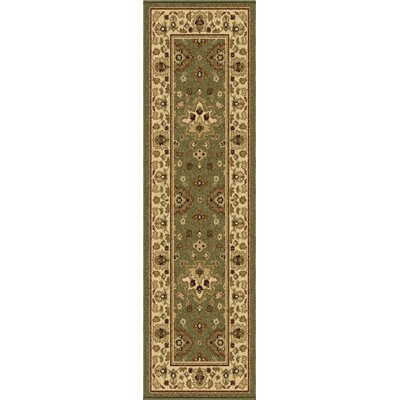Montrose Green Indoor/Outdoor Area Rug Rug Size: Runner 23 x 8