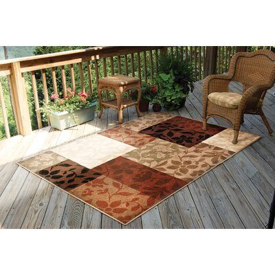 Dunlap Brown Indoor/Outdoor Area Rug Rug Size: 52 x 76