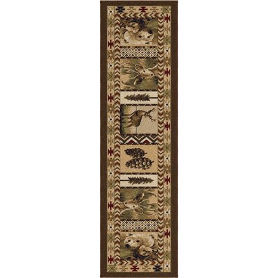 Thorpe Brown Area Rug Rug Size: Runner 23 x 8