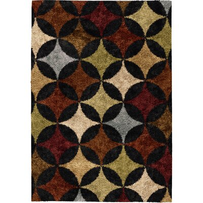 Keene Brown Area Rug Rug Size: 53 x 76