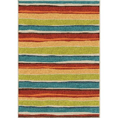Manchester Blue/Green Area Rug Rug Size: 310 x 52