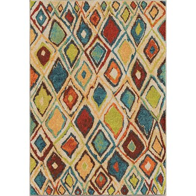 Seymour Beige/Green Area Rug Rug Size: 710 x 1010