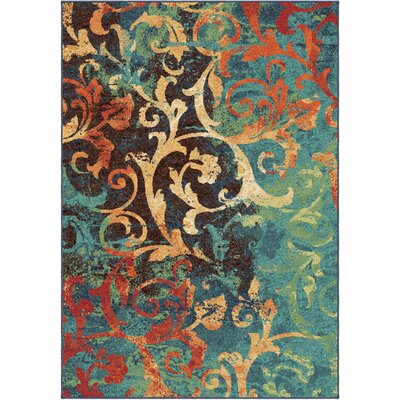 Claudine Blue/Brown Area Rug