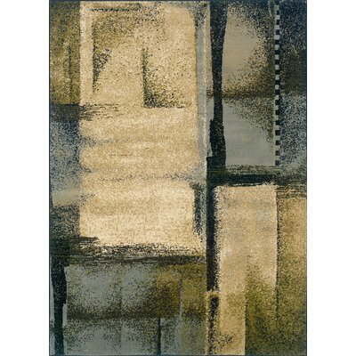 Kiley Beige/Blue Area Rug Rug Size: 32 x 55