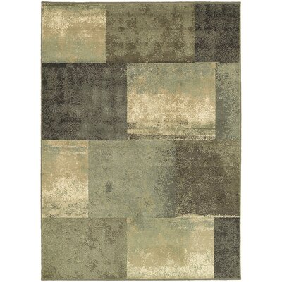 Larson Brown/Green Area Rug Rug Size: 33 x 55