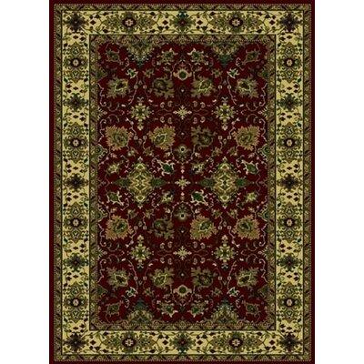 Columbus Burgundy Area Rug Rug Size: 55 x 77
