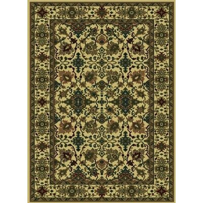 Columbus Ivory/Moss Area Rug Rug Size: Runner 22 x 77