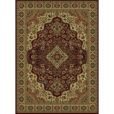 Columbus Burgundy/Brown Area Rug Rug Size: 3'3