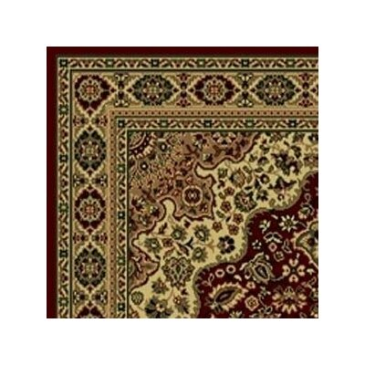 Columbus Burgundy/Brown Area Rug Rug Size: Runner 22 x 77