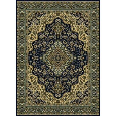 Columbus Navy Area Rug Rug Size: 5'5