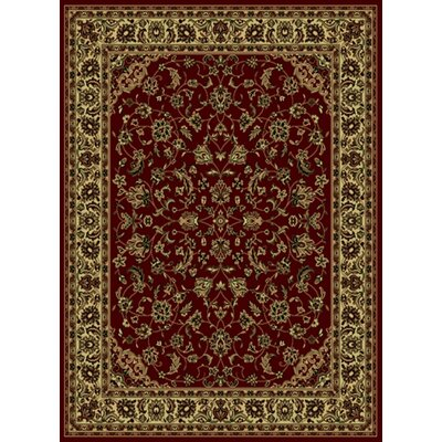 Columbus Burgundy/Brown Area Rug Rug Size: 55 x 77