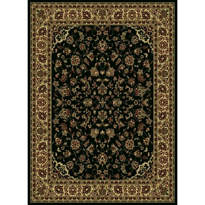 Columbus Black/Brown Area Rug Rug Size: 33 x 411