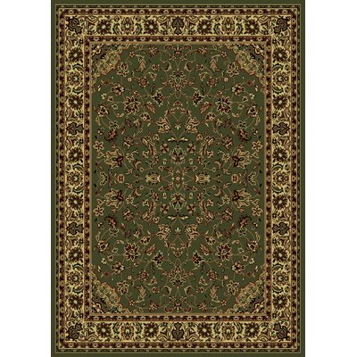 Columbus Yellow/Ivory Area Rug Rug Size: 55 x 77