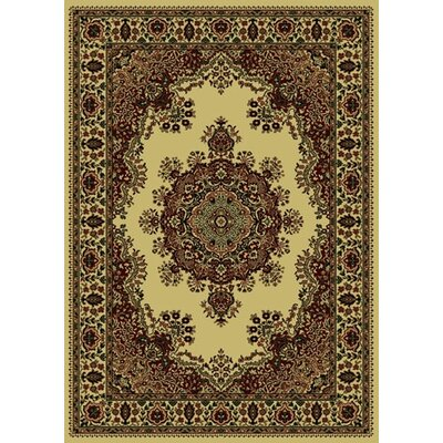 Columbus Ivory/Brown Area Rug Rug Size: 55 x 77
