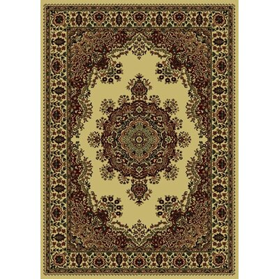 Columbus Ivory/Brown Area Rug Rug Size: 79 x 11