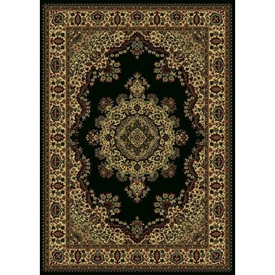 Columbus Black/Brown Area Rug Rug Size: 55 x 77