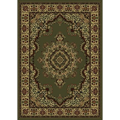 Columbus Yellow/Sage Area Rug Rug Size: 910 x 1210