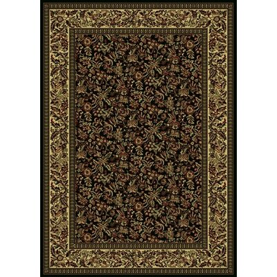 Columbus Black/Tan Area Rug Rug Size: 55 x 77
