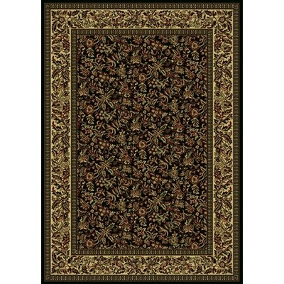 Columbus Black/Tan Area Rug Rug Size: 910 x 1210