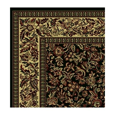Columbus Black/Tan Area Rug Rug Size: Runner 22 x 77