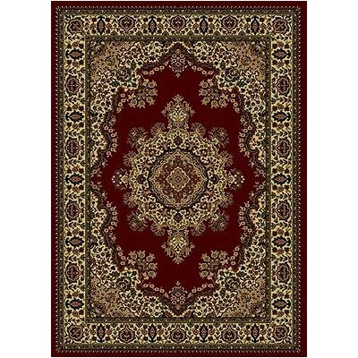 Columbus Burgundy/Tan Area Rug Rug Size: 79 x 11
