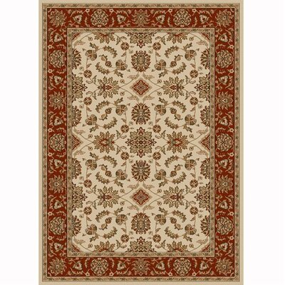 Colebrook Ivory/Brick Area Rug Rug Size: Rectangle 33 x 411