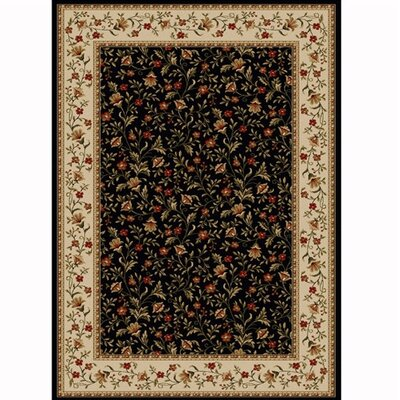 Colebrook Black Area Rug Rug Size: 910 x 1210