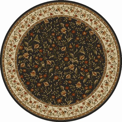 Colebrook Brown Area Rug Rug Size: Round 8