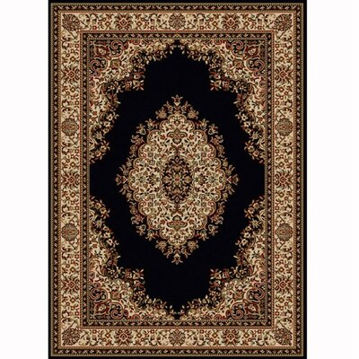 Colebrook Black Area Rug Rug Size: 33 x 411