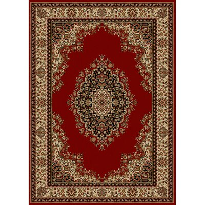 Colebrook Red Area Rug Rug Size: 55 x 77