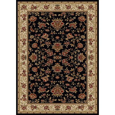 Colebrook Black Area Rug Rug Size: Rectangle 55 x 77
