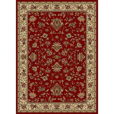 Colebrook Red Area Rug Rug Size: Rectangle 55 x 77