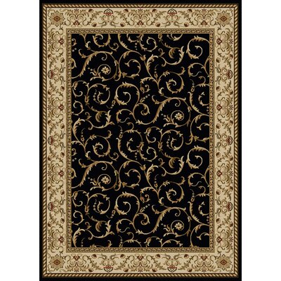 Colebrook Black Area Rug Rug Size: 79 x 11