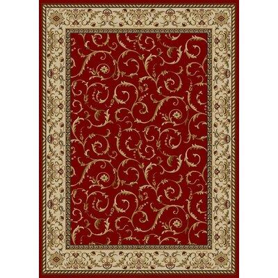 Colebrook Red Area Rug Rug Size: 910 x 1210